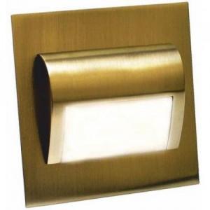LED nástěnné schodišťové svítidlo BERYL mosaz 1,5W 9xSMD3014 12V DC teplá bílá